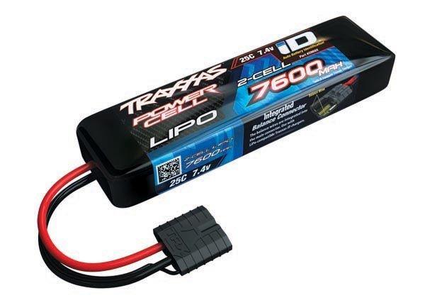 7600mAh  7,4V 2-Zellen 25C TRAXXAS LIPO mit iD-Stecker