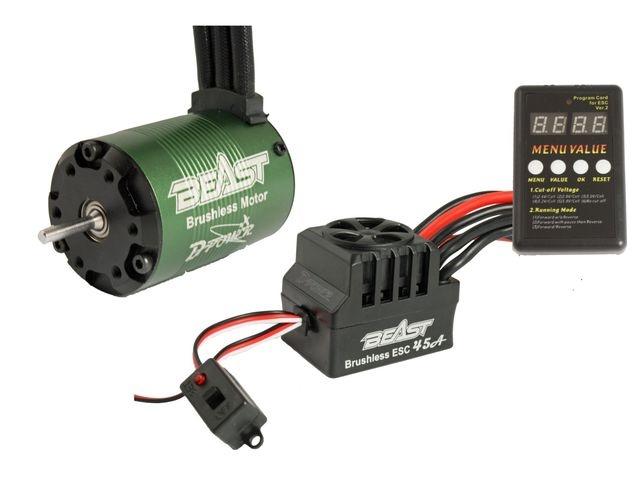D-Power BEAST Combo FUN, BEAST 4P 3650-3450KV BL Motor & BEA