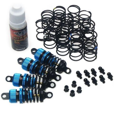 Öldruckstoßdämpfer-Set 1:10 mit Öl und Zusatzfedern