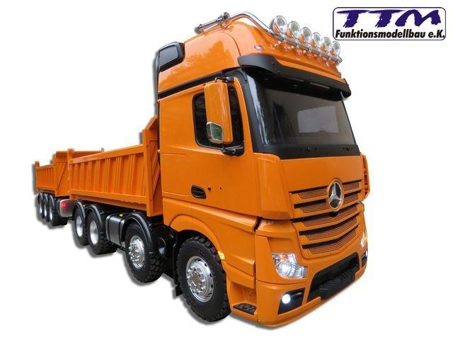 TTM 1:14 8x8 tipper with hydraulic for Tamiya cabs