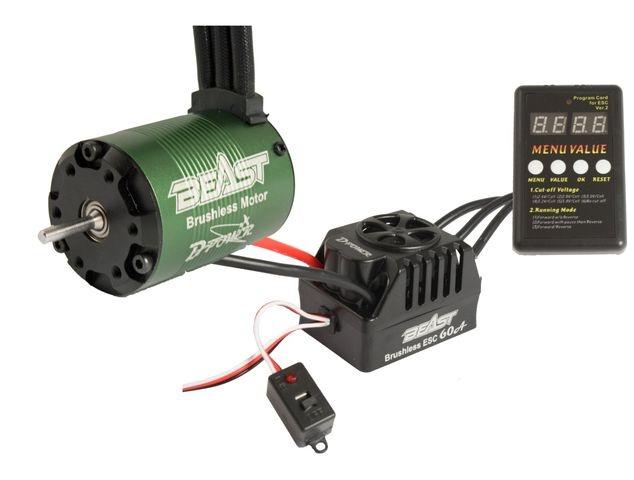 D-Power BEAST Combo RACE, BEAST 4P 3650-4350KV BL Motor & BE